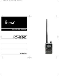 Manual del usuario Icom IC-E90