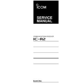 Service Manual Icom IC-R2