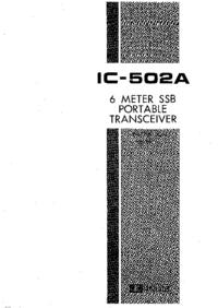 Service et Manuel de l'utilisateur Icom IC-502A
