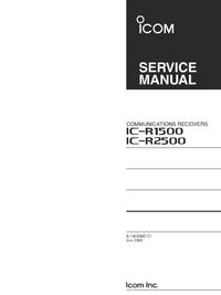 Instrukcja serwisowa Icom IC-r2500