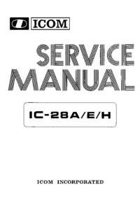 Service Manual Icom IC-28H