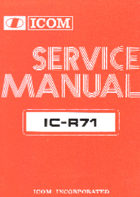 Manual de servicio Icom IC-R71
