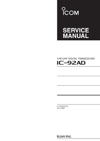 Service Manual Icom IC-92AD