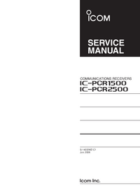 Manual de servicio Icom IC-PCR1500