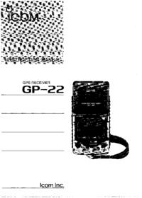Bedienungsanleitung Icom GP-22