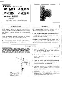 User Manual Icom IC-AG 1
