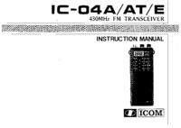 Manuel de l'utilisateur Icom IC-04E