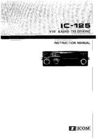 Instrukcja obsługi Icom IC-125