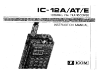 Manual del usuario Icom IC-12AT