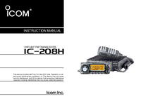 Manual del usuario Icom IC-208H