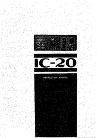 Manual del usuario, Diagrama cirquit Icom IC-20