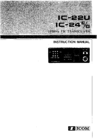 User Manual Icom IC-24E