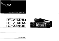 User Manual Icom IC-2340E