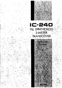 Serwis i User Manual Icom IC-240