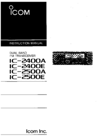 Manual del usuario Icom IC-2500A