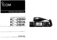 User Manual Icom IC-281E