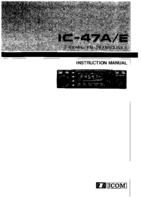 User Manual Icom IC-47A