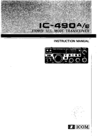 Manual del usuario Icom IC-490A