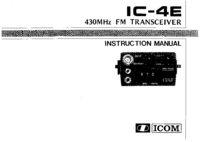 User Manual Icom IC-4E
