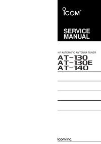 Manual de servicio Icom AT-140