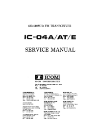 Service Manual Icom IC-04E