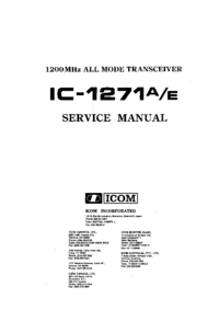 Manual de servicio Icom IC-1271A