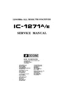 manuel de réparation Icom IC-1271E