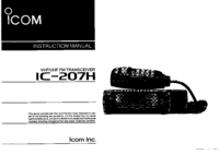 User Manual Icom IC-207H