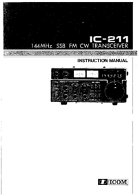 Service and User Manual Icom IC-211