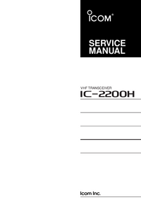 Service Manual Icom IC-2200H