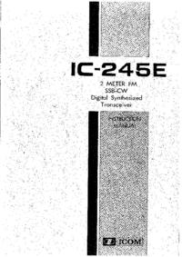 Обслуживание и Руководство пользователя Icom IC-245E