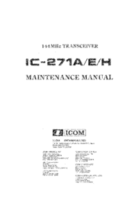 Manual de servicio Icom IC-271H