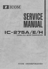 Service Manual Icom IC-275H