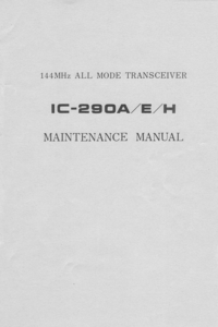 Service Manual Icom IC-290A