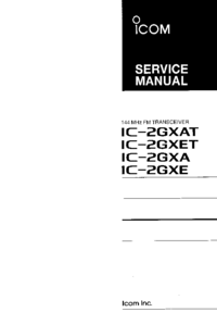 Service Manual Icom IC-2GXAT