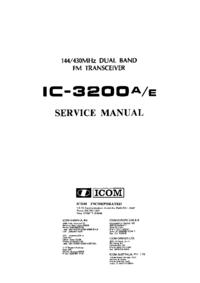 Manuale di servizio Icom IC-3200A