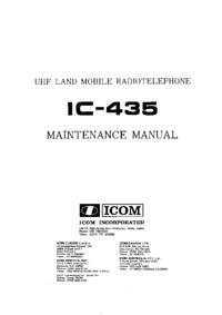 manuel de réparation Icom IC-435