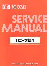 Manual de servicio Icom IC-751