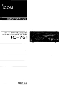 Manual del usuario Icom IC-761
