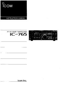 Manuale d'uso Icom IC-765