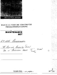 User Manual Icom IC-U200