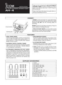 User Manual Icom AH-4