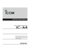 Bedienungsanleitung Icom IC-A4