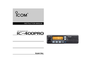Manual del usuario Icom IC-400Pro