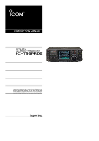 Manuel de l'utilisateur Icom IC-756Pro II