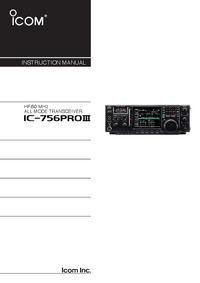 Manual del usuario Icom IC-756Pro III