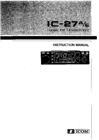 User Manual Icom IC-27E
