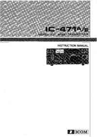 User Manual Icom IC-471A