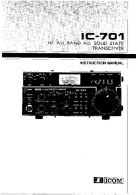 Service and User Manual Icom IC-701