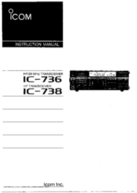 User Manual Icom IC-736